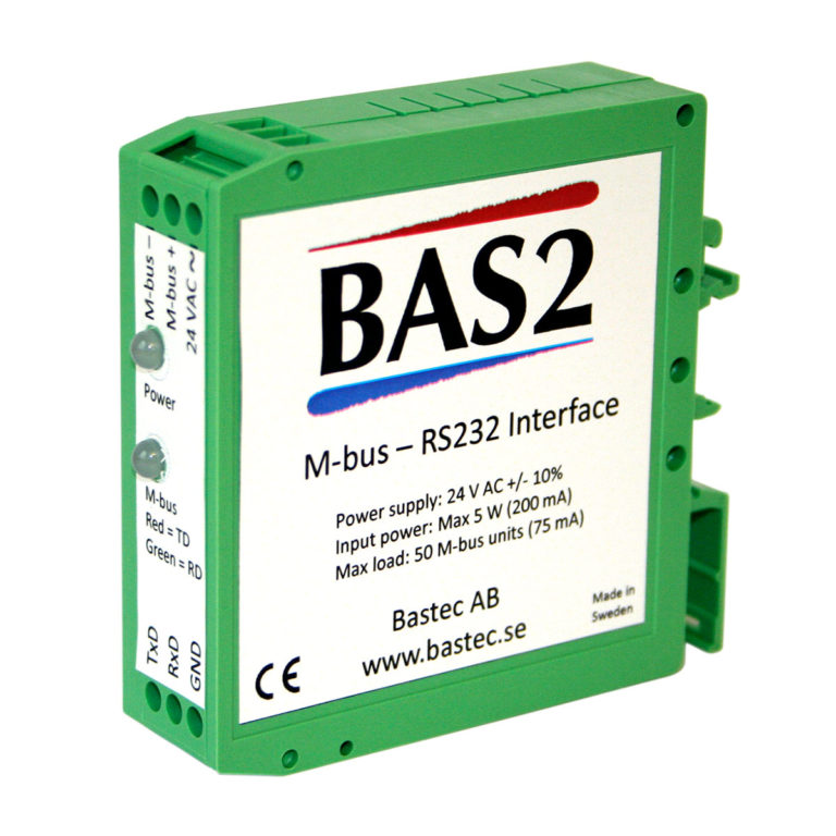 BAS2 M-Bus – RS232 adapter