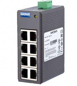 MOXA switch 8-port DIN montage EDS-208